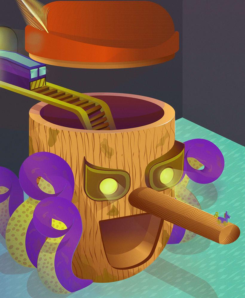 Pinocchio (Técnicas avanzadas de ilustración vectorial) -1