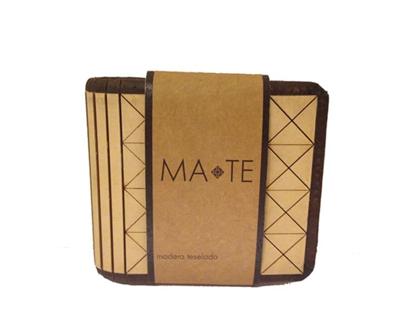 MA-TE: Billetera de madera y cuero 0