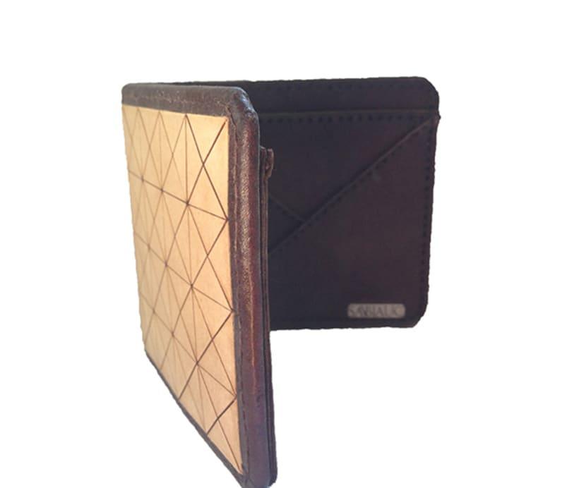 MA-TE: Billetera de madera y cuero 1