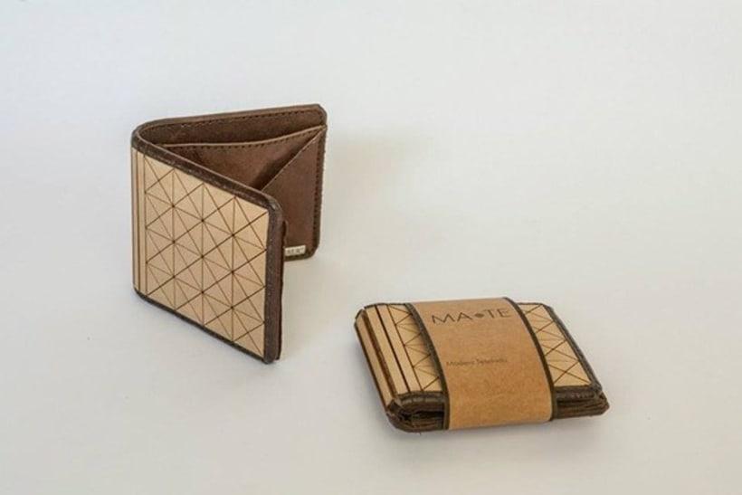 MA-TE: Billetera de madera y cuero 4