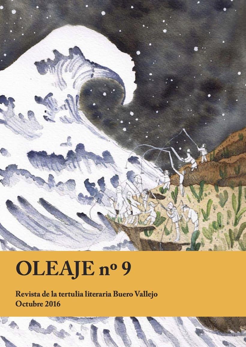 Ilustración de Portada Revista Oleaje número 9, Madrid -1