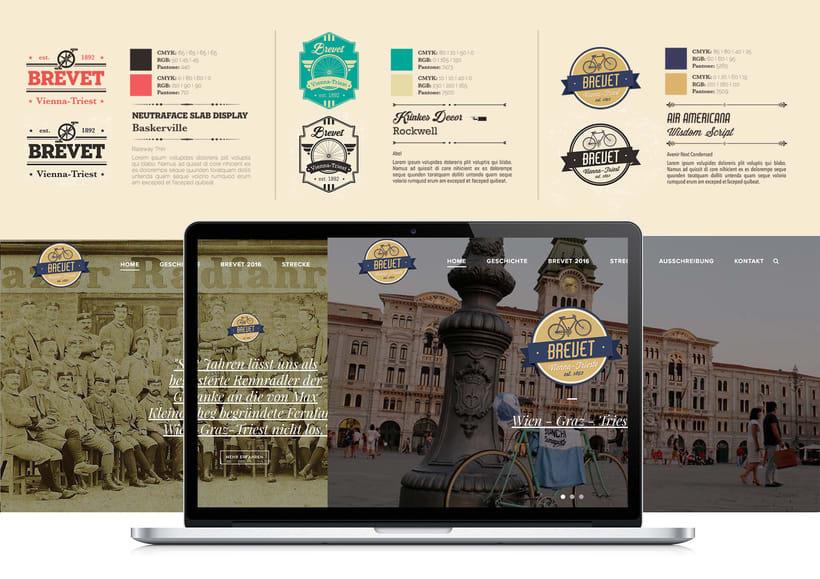 Vienna-Triest Brevet logo design -1