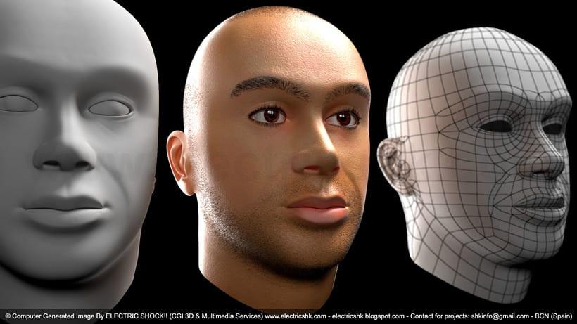 Cara en CGI 3D 0