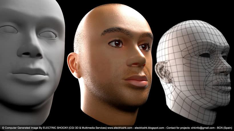 Cara en CGI 3D 1