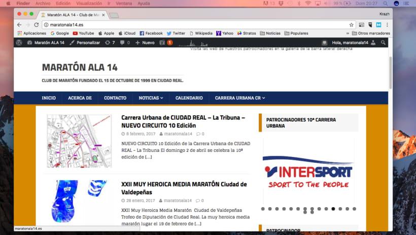 Página web de Club de Maratón ALA 14 1