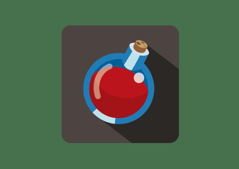 Flat Design: Health Potion -1