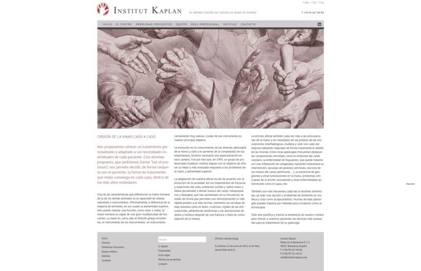 Web para Institut Kaplan 0