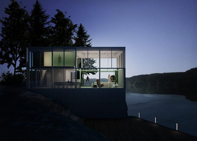 Mi Proyecto del curso: Representación de espacios arquitectónicos con 3D Studio Max -1