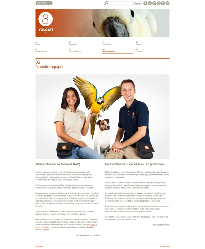 Web para la consutoría veterinaria Yolcati 3