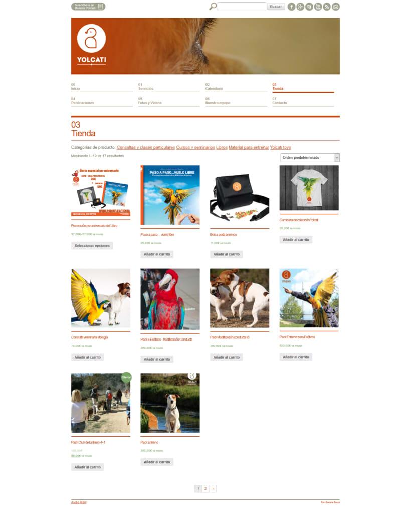 Web para la consutoría veterinaria Yolcati 4
