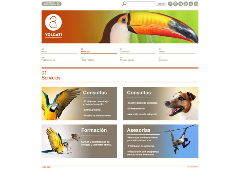 Web para la consutoría veterinaria Yolcati 2