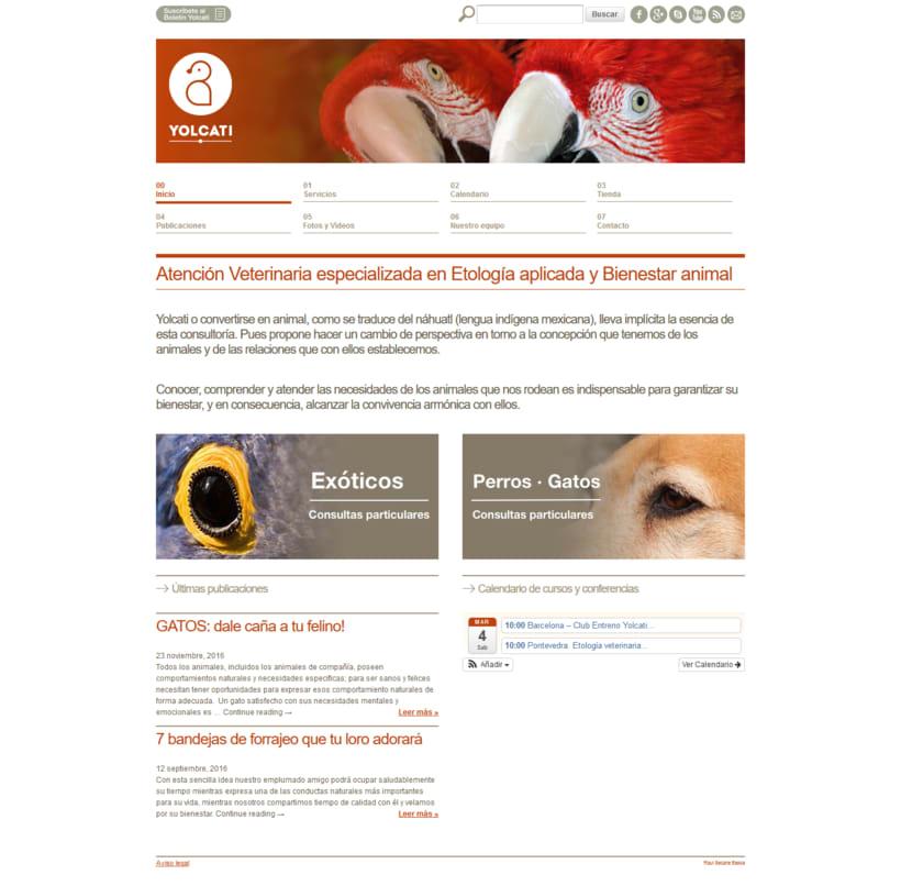 Web para la consutoría veterinaria Yolcati 0