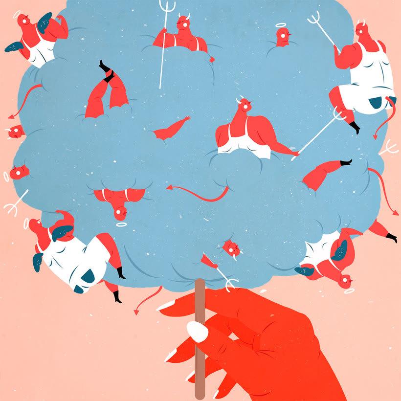 El mismo diablo se cuela en las ilustraciones de Tiago Galo 13
