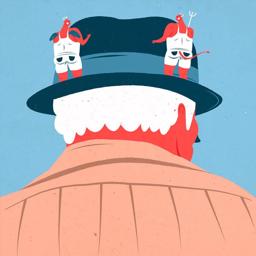 El mismo diablo se cuela en las ilustraciones de Tiago Galo 20