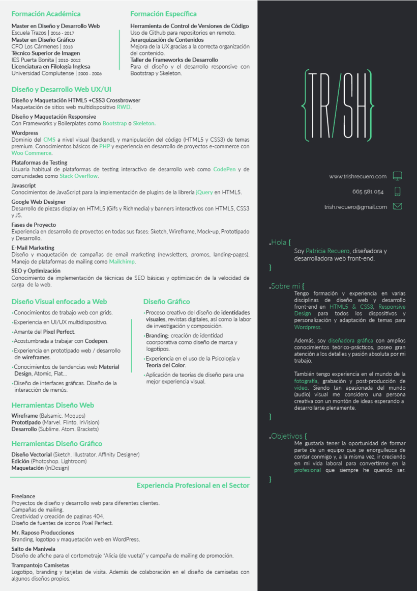 CV / Resume | Domestika