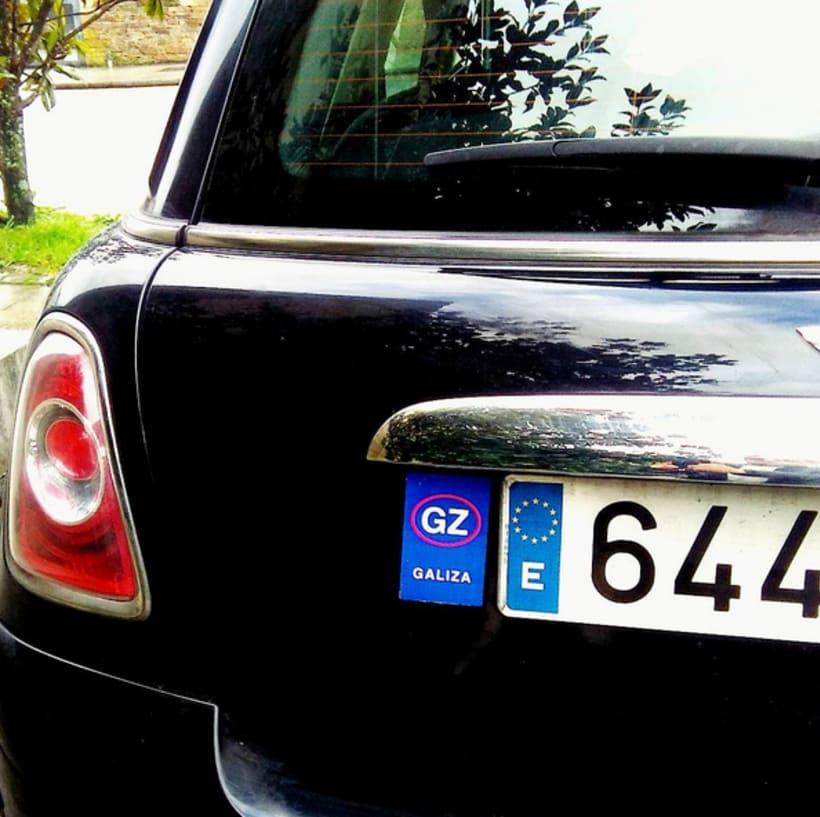 Adesivos para Identidade GZ em placas de automóvel 0