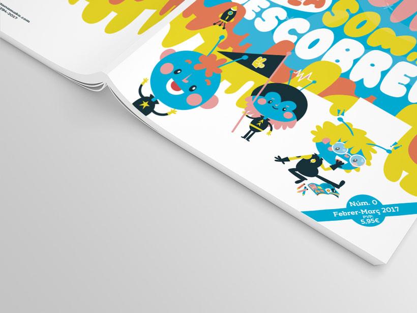 Portada e infografía de una revista infantil que lo va a petar pero bien 1