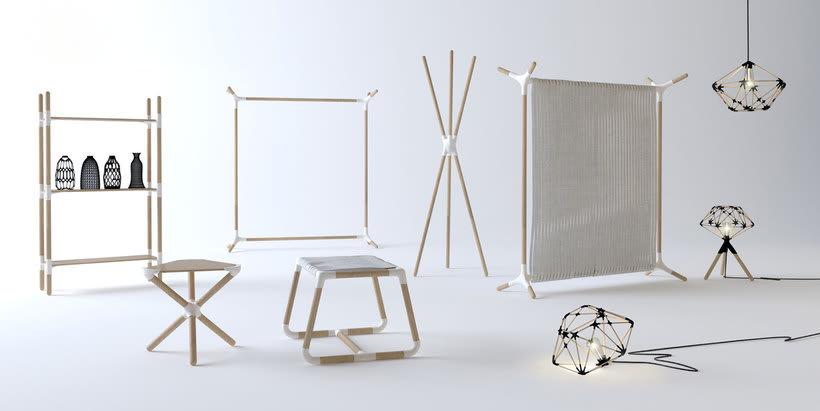 Mobiliario minimalista con diseño DIY 1