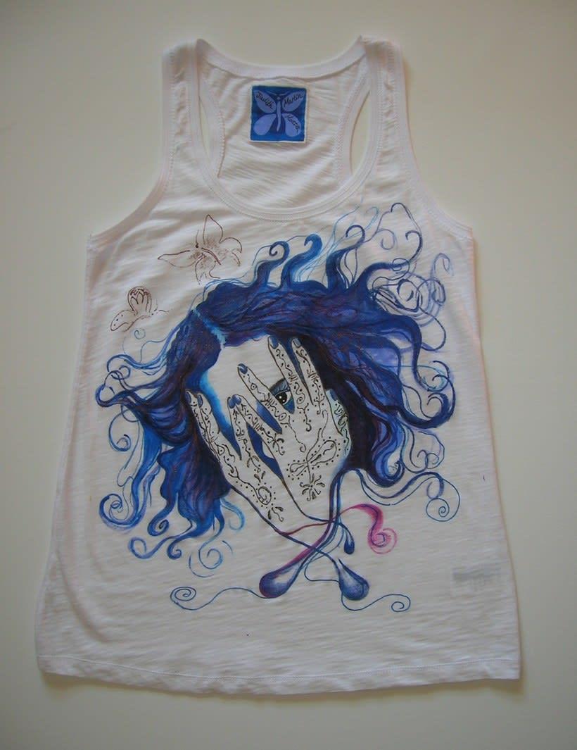 Camisetas Pintadas a mano de Mujer y de hombre 3