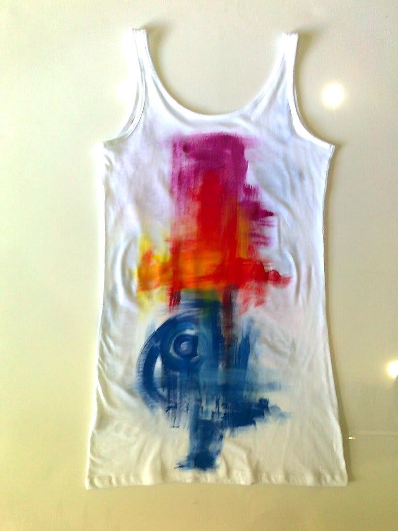 Camisetas Pintadas a mano de Mujer y de hombre 8
