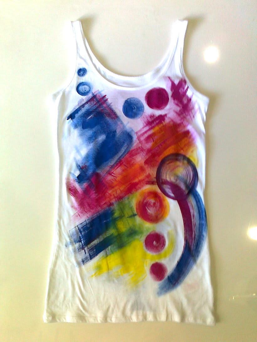 Camisetas Pintadas a mano de Mujer y de hombre 7