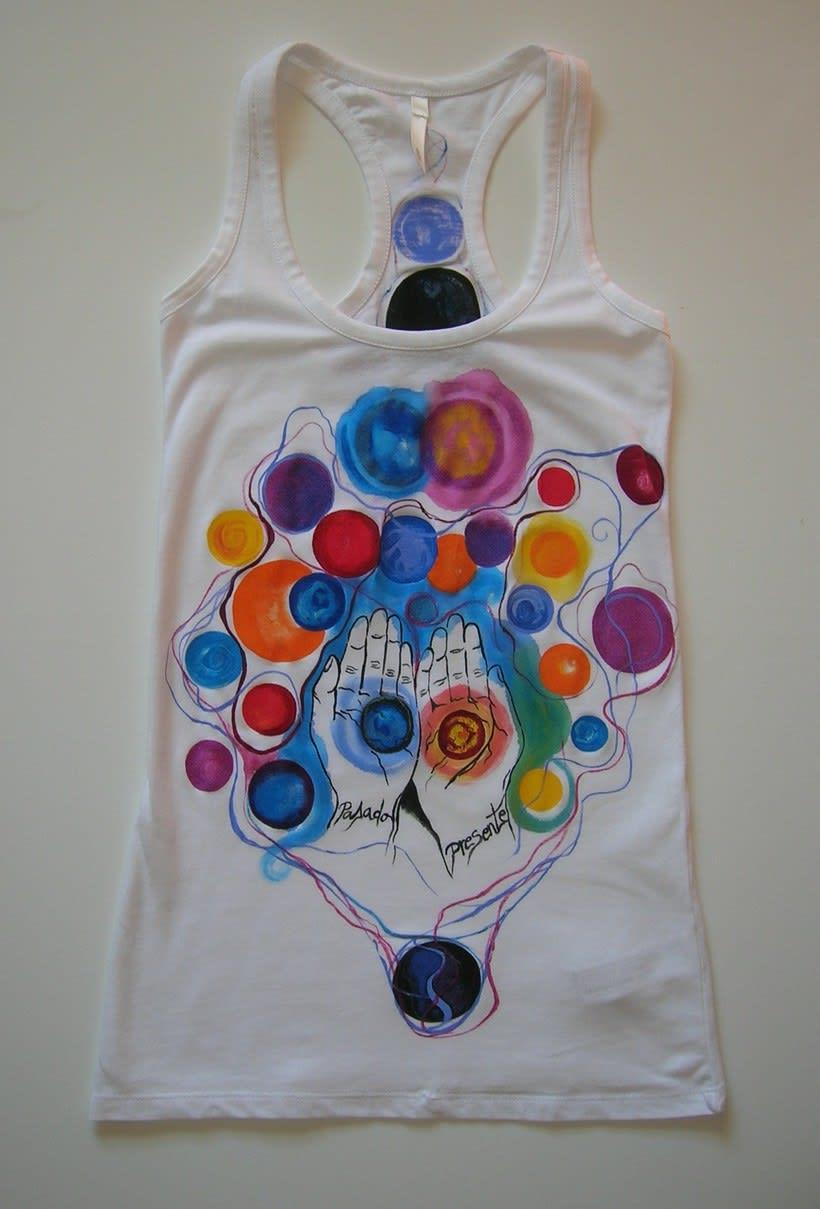 Camisetas Pintadas a mano de Mujer y de hombre 9