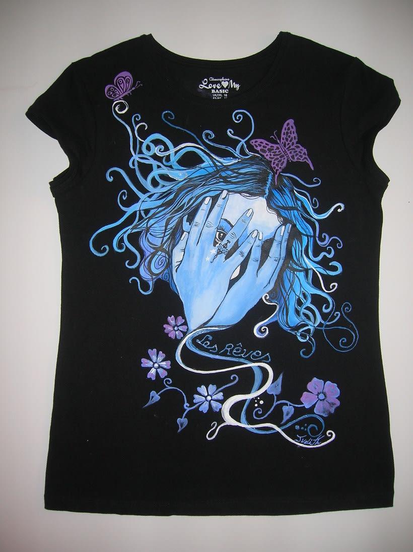 Camisetas Pintadas a mano de Mujer y de hombre 13