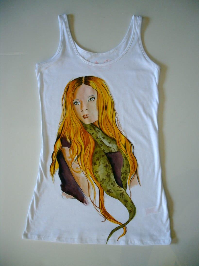 Camisetas Pintadas a mano de Mujer y de hombre 15