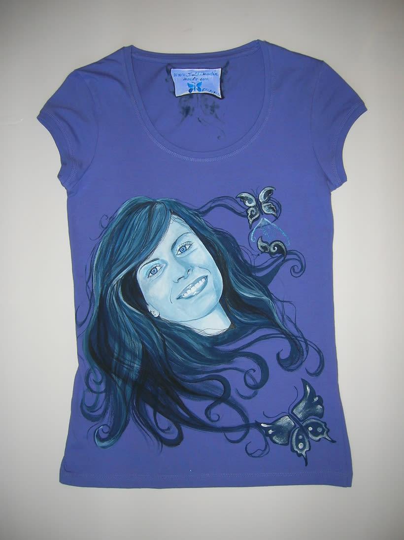 Camisetas Pintadas a mano de Mujer y de hombre 19