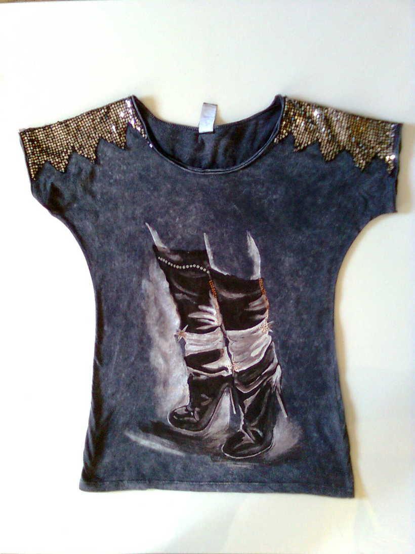 Camisetas Pintadas a mano de Mujer y de hombre 27