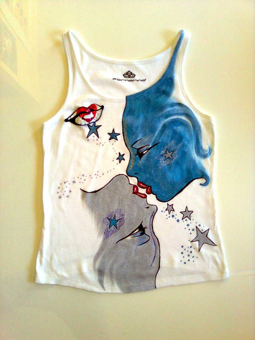 Camisetas Pintadas a mano de Mujer y de hombre 28