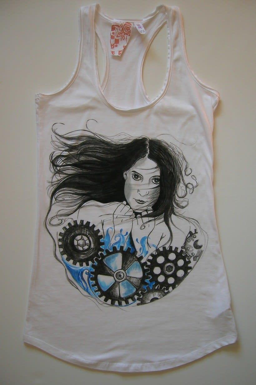 Camisetas Pintadas a mano de Mujer y de hombre 29