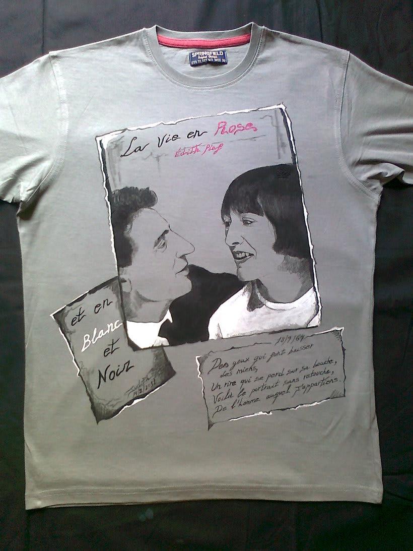 Camisetas Pintadas a mano de Mujer y de hombre 37