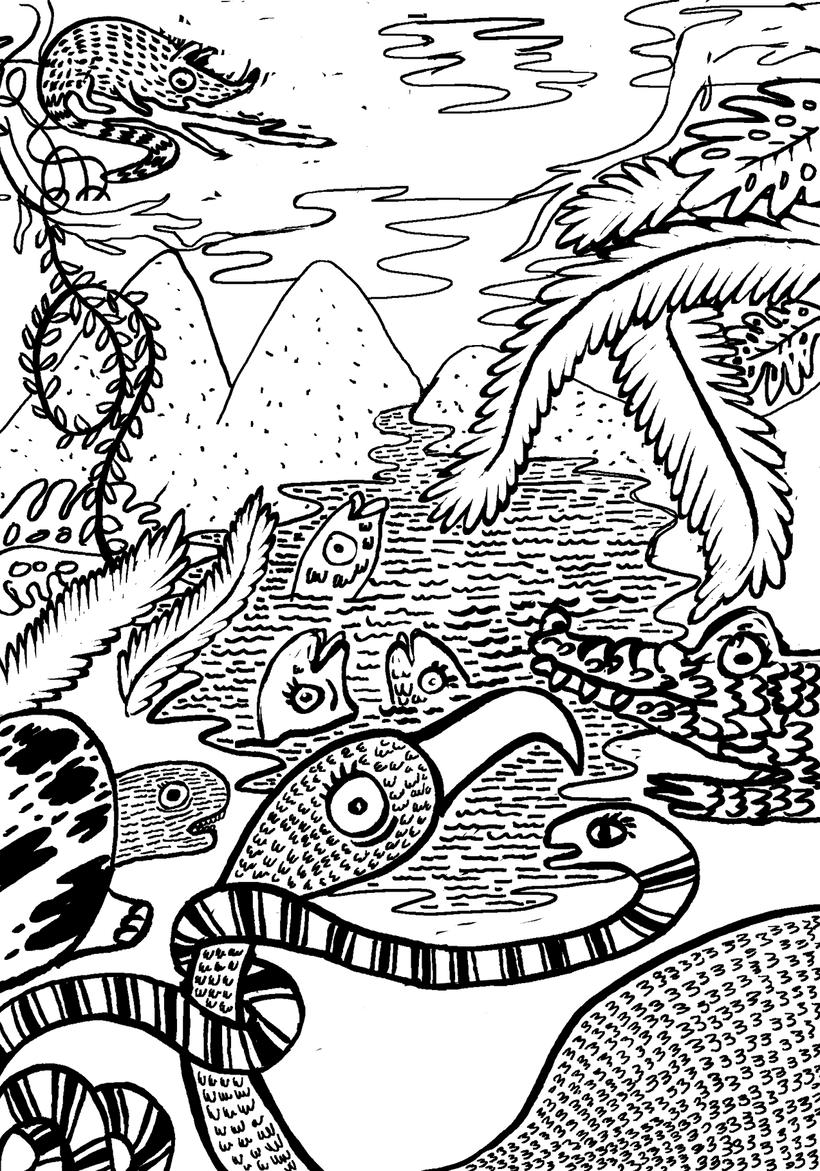 """Proyecto realizado para Editorial Planeta México.  Ilustración de portada """"Cuentos de la selva"""" 2017. -1"""
