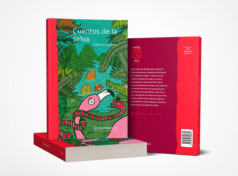 """Proyecto realizado para Editorial Planeta México.  Ilustración de portada """"Cuentos de la selva"""" 2017. 0"""