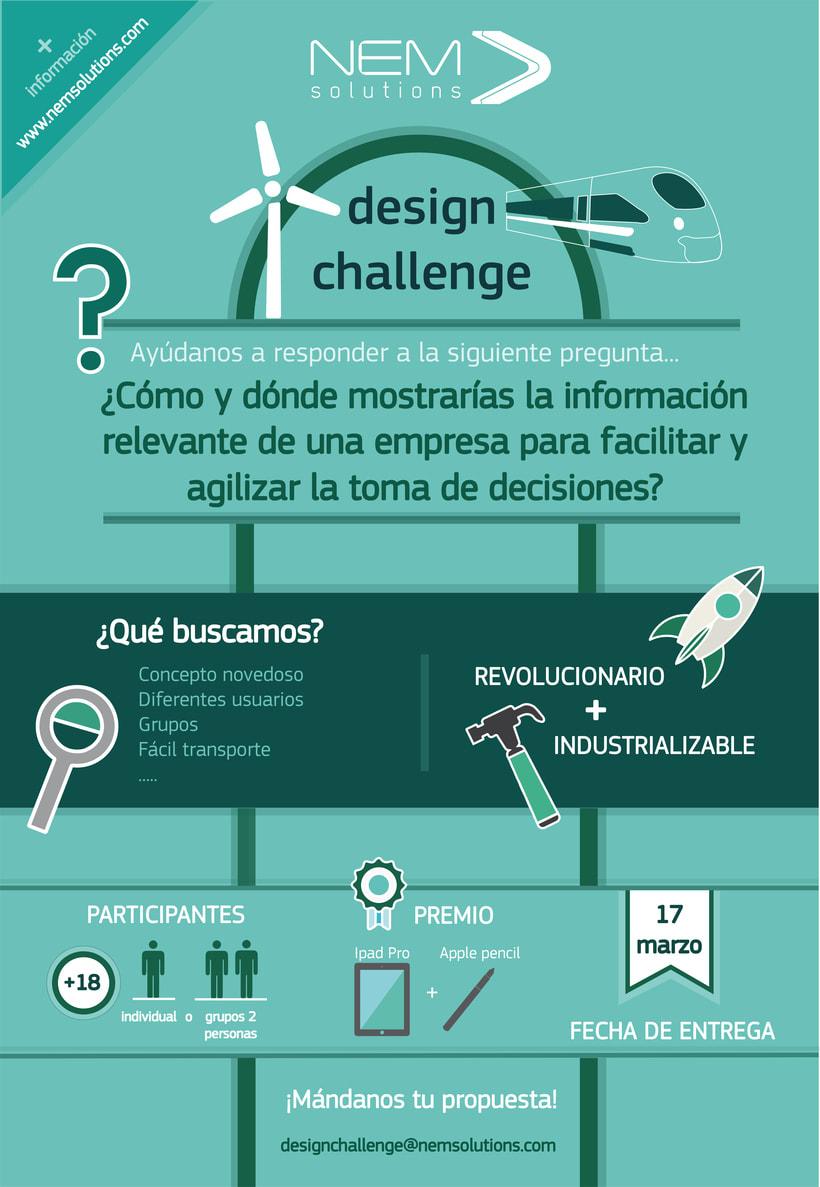 NEM Solutions DESIGN CHALLENGE/ Gana un IPAD PRO+APPLE PENCIL 1