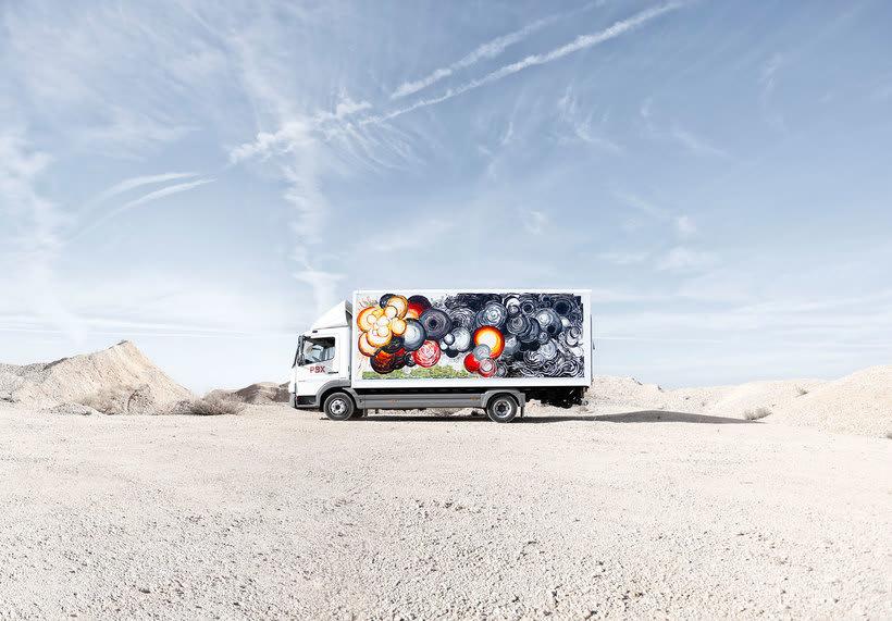 Arte itinerante a lomos de un camión de mercancías 1