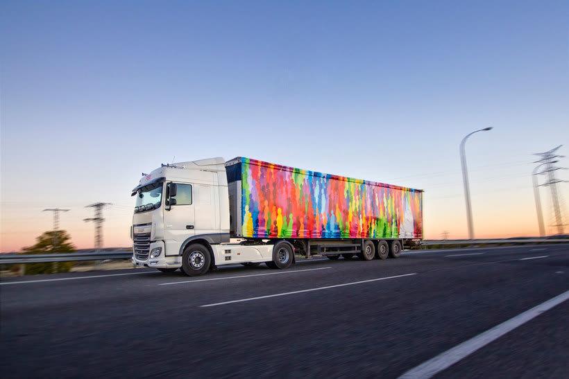 Arte itinerante a lomos de un camión de mercancías 3