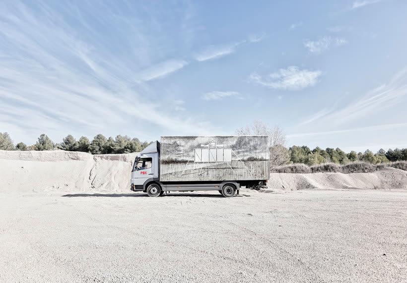 Arte itinerante a lomos de un camión de mercancías 4