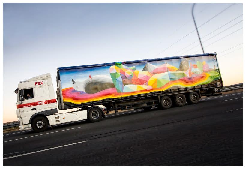 Arte itinerante a lomos de un camión de mercancías 6