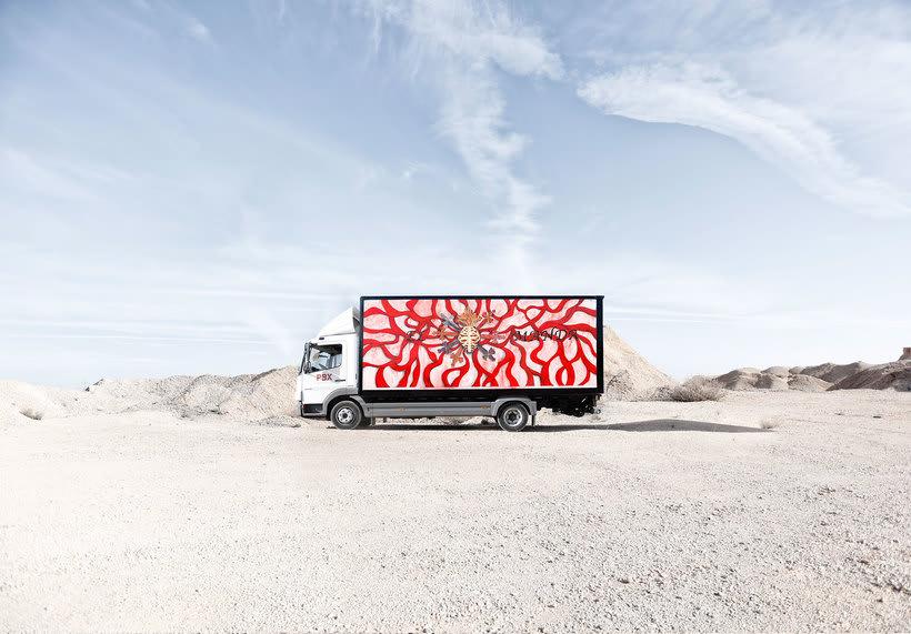 Arte itinerante a lomos de un camión de mercancías 7