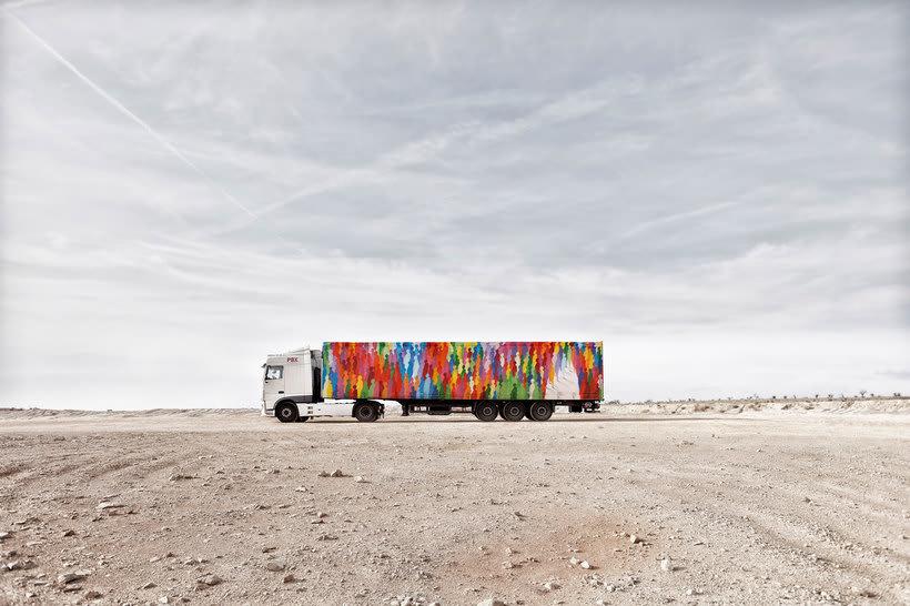 Arte itinerante a lomos de un camión de mercancías 8
