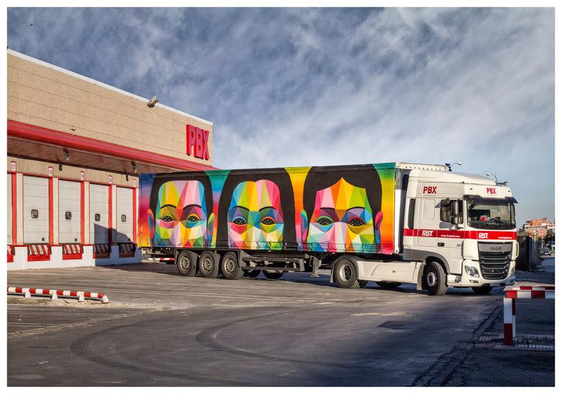 Arte itinerante a lomos de un camión de mercancías 9