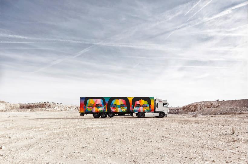 Arte itinerante a lomos de un camión de mercancías 10