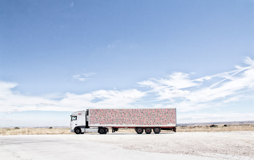 Arte itinerante a lomos de un camión de mercancías 13