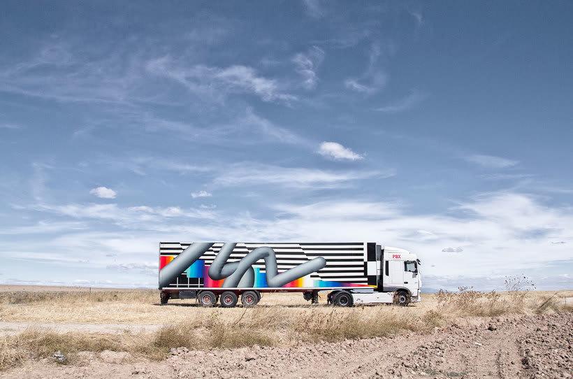 Arte itinerante a lomos de un camión de mercancías 17