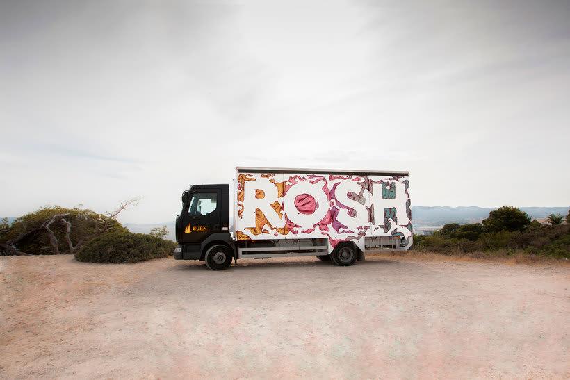 Arte itinerante a lomos de un camión de mercancías 18