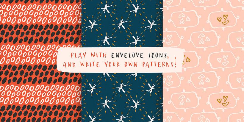 Envelove Script, Caps & icons — Type Family 16