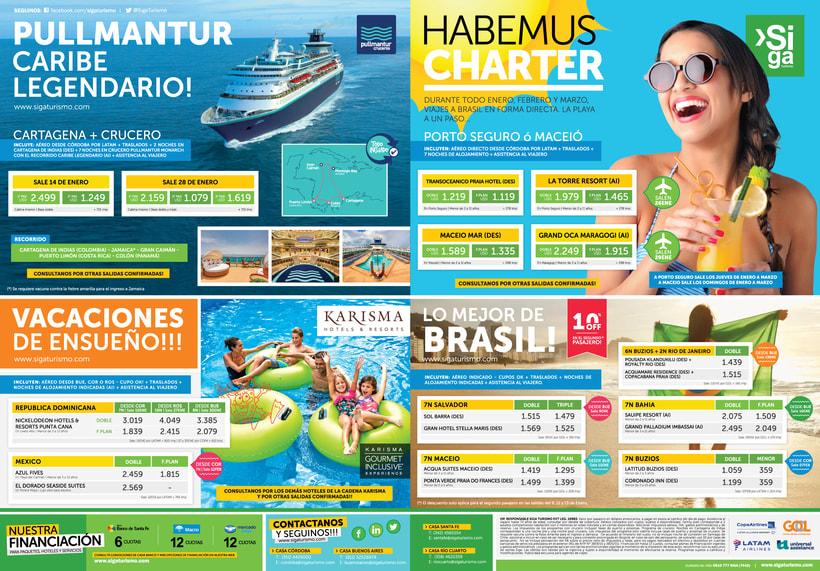 Publicidad Gráfica y Tarifarios | Siga Turismo 2017 -1