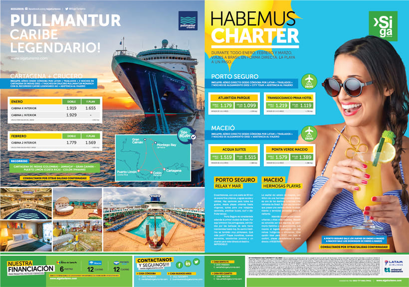 Publicidad Gráfica y Tarifarios | Siga Turismo 2017 0